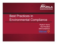 Best Practices in Environmental Compliance - Retail Industry ...