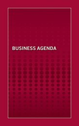 BUSINESS AGENDA - Retail Industry Leaders Association