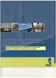 Réunion Internationale des Laboratoires et Experts des ... - rilem