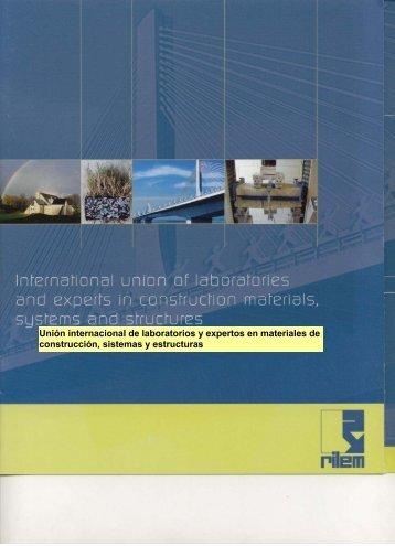 Unión internacional de laboratorios y expertos en materiales ... - rilem
