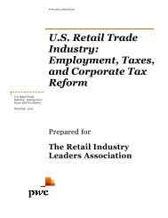 US Retail Trade Industry: Employment, Taxes and Corporate Reform