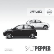 nissan Micra salt & PePPer