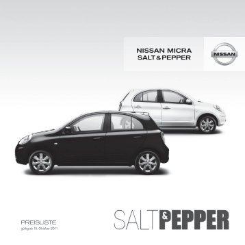 nissan Micra salt & PePPer