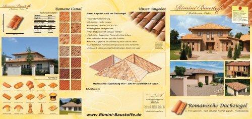 Prospekt Fa R Romanische Tondachziegel Rimini Baustoffe Gmbh