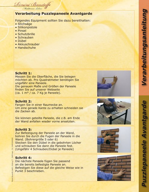 Verarbeitung Rimini Baustoffe Gmbh