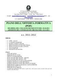 piano dell'offerta formativa (pof) - direzione didattica rimini 4