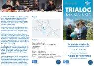 Flyer mit näheren Informationen zu den Veranstaltungen