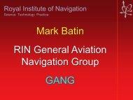 Mark Batin RIN General Aviation Navigation Group GANG