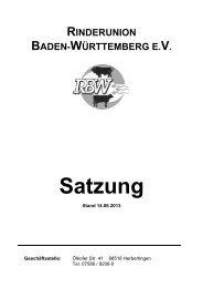 RBW-Satzung mit Zuchtbuchordnung - Rinderunion Baden ...