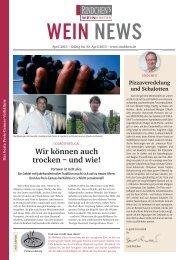 Die WEIN NEWS im April 2013 als PDF - Rindchen
