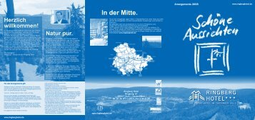 Arrangementflyer 2008.indd - Ringberg Resort Hotel