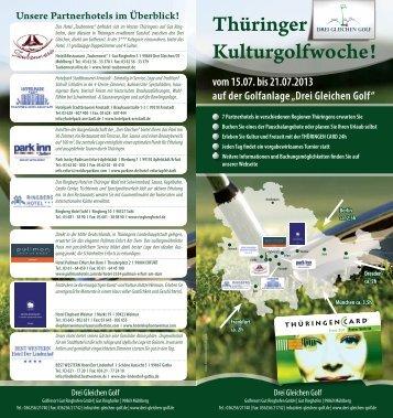 Thüringer Kulturgolfwoche! - Ringberg Resort Hotel