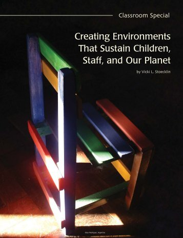 Creating Environments That Sustain Children, Staff, and Our Planet