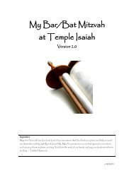 Bar/Bat Mitzvah Welcome Meeting - Temple Isaiah