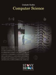Graduate Study Brochure - Department of Computer Science - Stony ...
