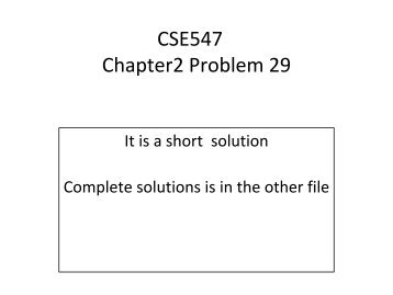 Chapter 2, Problem 29 short solution
