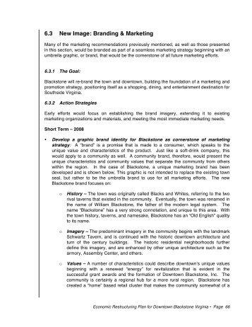 Economic Restructuring Plan Sec 6.3 - Downtown Blackstone Inc.