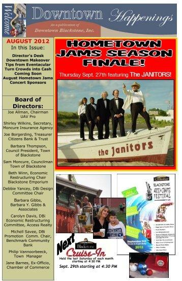 AUGUST 2012 Board of Directors - Downtown Blackstone Inc.