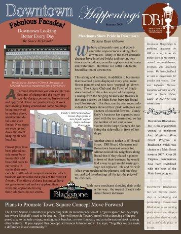 Happenings Summer 09 (1) - Downtown Blackstone Inc.