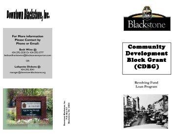 Revolving Loan - Downtown Blackstone Inc.