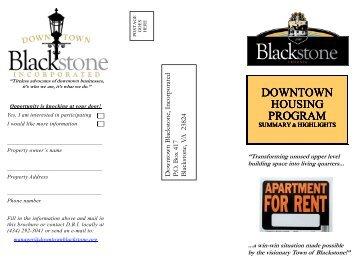 Housing Brochure2 - Downtown Blackstone Inc.