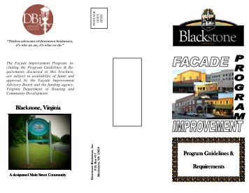 DBI Facade Improvement Brochure - Downtown Blackstone Inc.