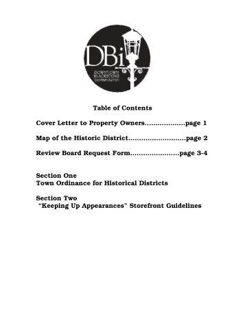 Design Guidelines - Downtown Blackstone Inc.