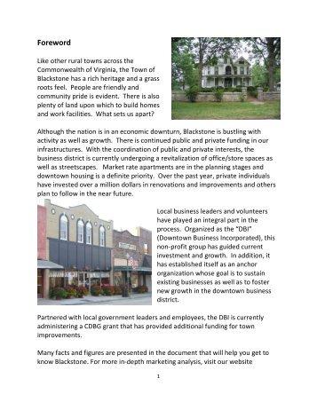 Business Recruitment Packet - Downtown Blackstone Inc.