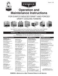 Operation and Maintenance Instructions - Evapco