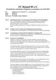 Protokoll Mitgliederversammlung v. 23.03.2012 - beim FC Hennef 05