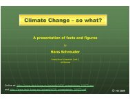 Climate Change – so what? - Galileo Movement