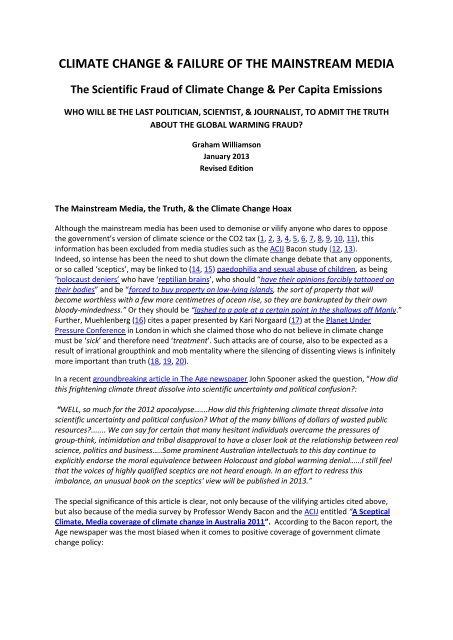 climate change & failure of the mainstream media - Galileo Movement