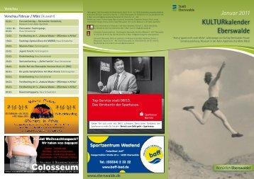 KULTURkalender Eberswalde Januar 2011 - Altstadtcarree ...