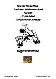 Tiroler LM Kadetten- & Junioren (Freistil)
