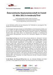 Bericht: Heinz Ostermann - Österreichischer Ringsportverband ÖRSV