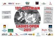13. austrian ladies' open 2011