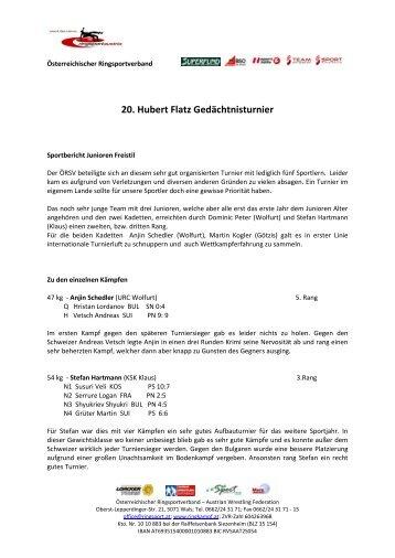 Gesamter Bericht - Österreichischer Ringsportverband ÖRSV