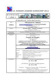 RINGER-JUGEND-EUROCAMP 2008