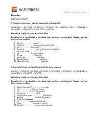 Napi Olasz Percek 2011. június 1. Elementare PARTICIPI PASSATI I ...