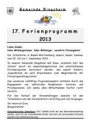 Programm vom 12. Juli bis 7. September 2013 [pdf] - Ringsheim