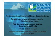 North American Network of Basin Organizations / Réseau ... - INBO