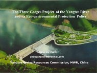 The Three Gorges Project of the Yangtze River and its Eco ... - INBO