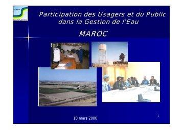 Participation des Usagers et du Public dans la Gestion de l'Eau - INBO
