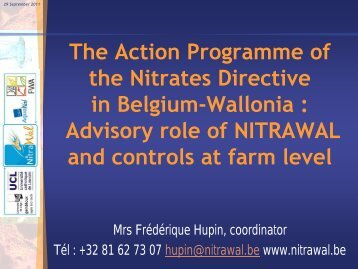 The 2nd action programme in Wallonia - INBO