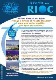VI Foro Mundial del Agua - RIOB