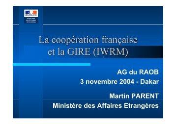 La coopération française et la GIRE (IWRM) - INBO