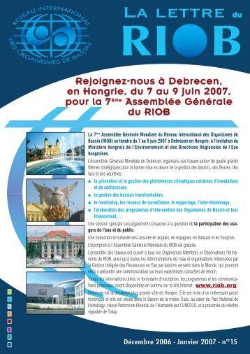 n° 15 - Décembre 2006 - Janvier 2007 - RIOB