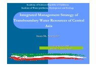 Integrated Management Strategy of Transboundary Water ... - INBO