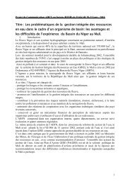 Titre : Les problématiques de la gestion intégrée des ... - RIOB