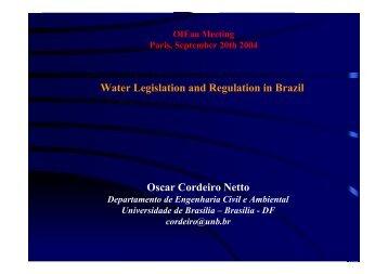 Oscar Cordeiro Netto Water Legislation and Regulation in ... - INBO